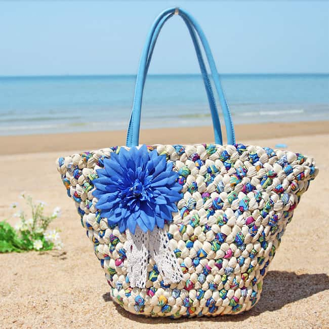 Weave Woven Shoulder Beach Totes 2017