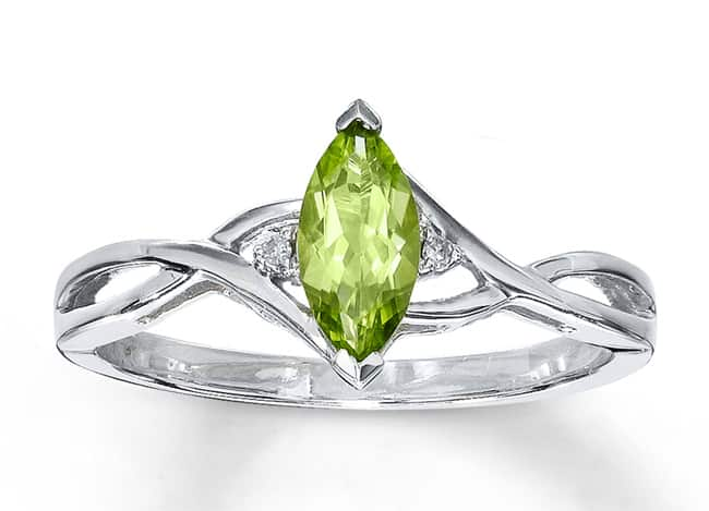 White Gold Peridot Rings for Brides 2016