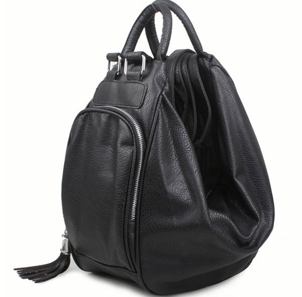 Women Black Leather Handbags for Travel