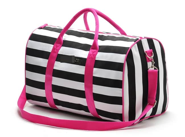 Women Luggage Stripe Travel Handbag Ideas