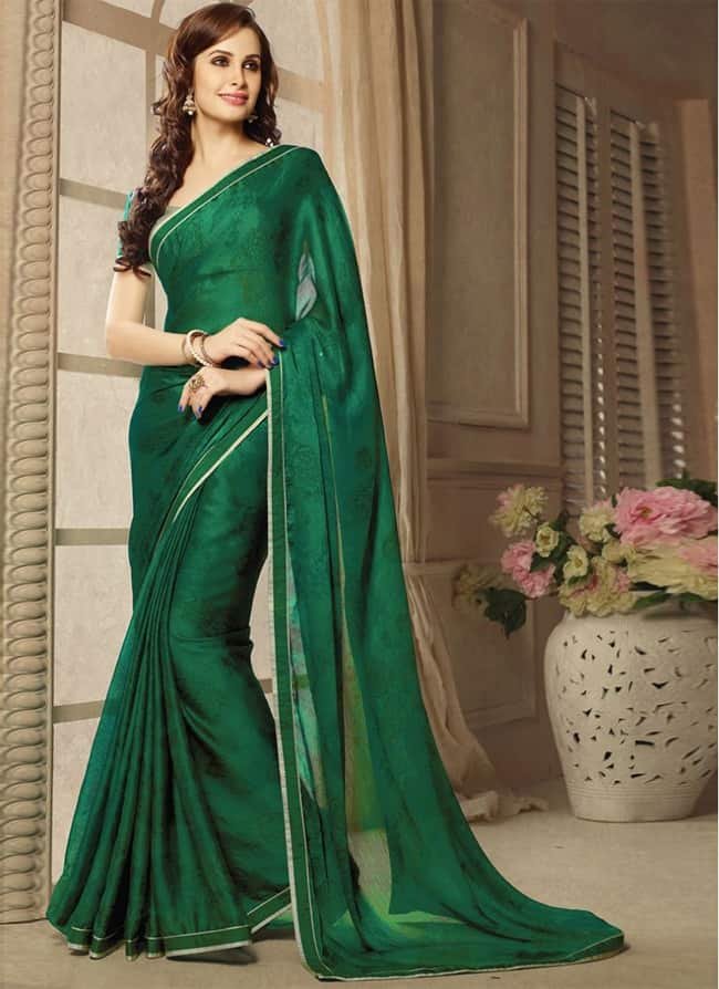 Women Saree Designs for Engagement Party