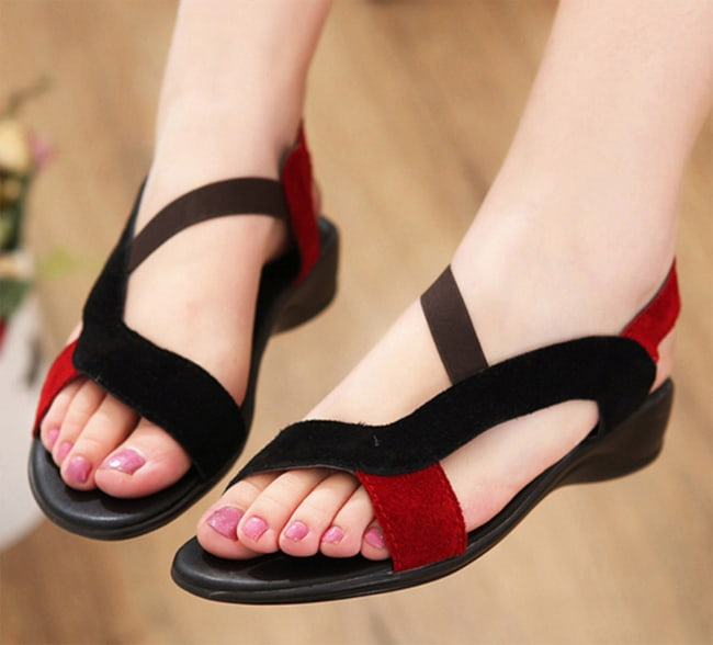 Women Suede Leather Summer Slippers