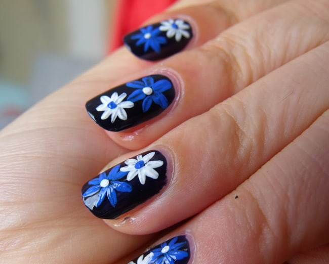 Wonderful Floral Nail Pattern Designs 2016