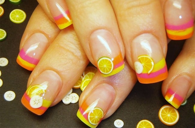 Yellow Beach Nail Art Ideas 2016