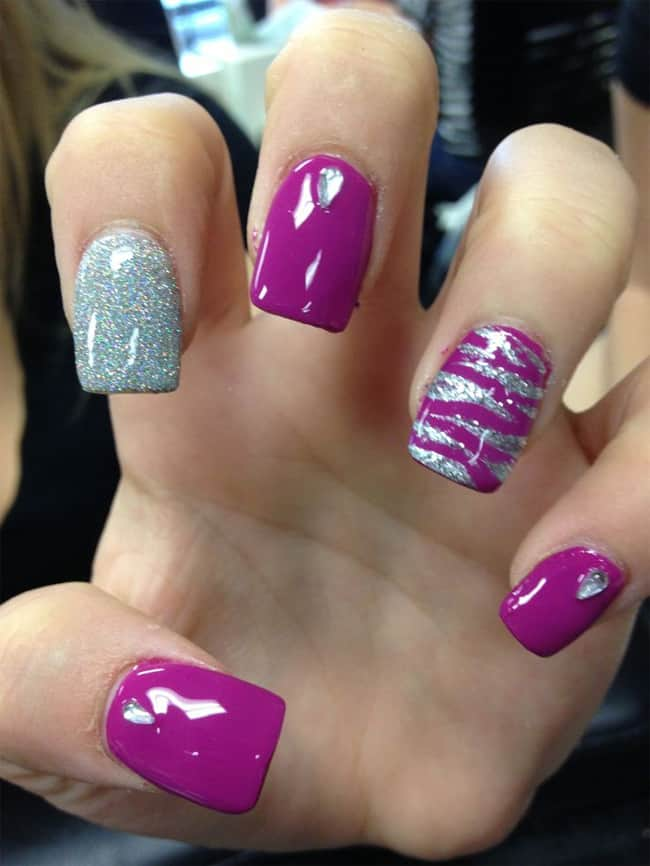 Zebra Style Nail Pattern Trend for Girls