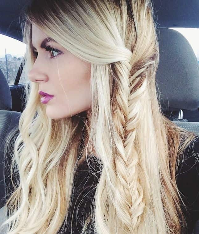 Amazing Girls Loose Fishtail Hairstyle Ideas
