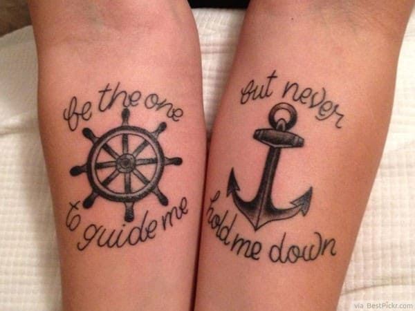 Amazing Matching Tattoos Art for Couples
