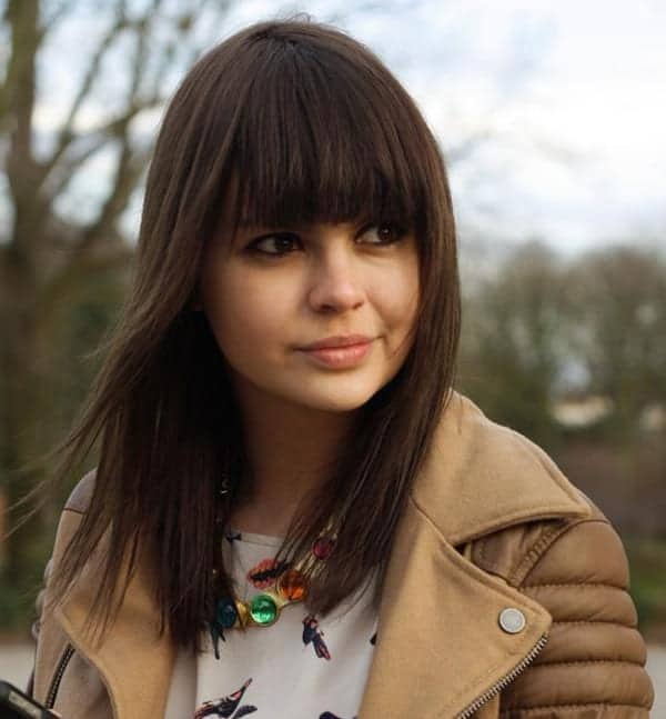 Amazing Medium Fringe Haircuts for Women
