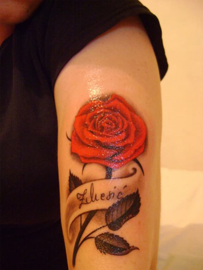 Armband Rose Tattoos Designs for Girls