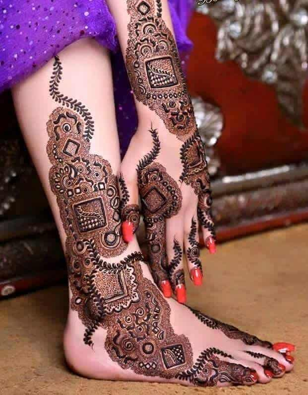 Attractive Dubai Henna Designs for Hand and Foot
