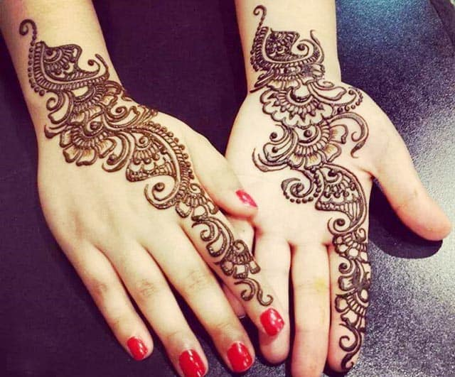 Attractive Front and Back Hands Mehdi Ideas for Eid