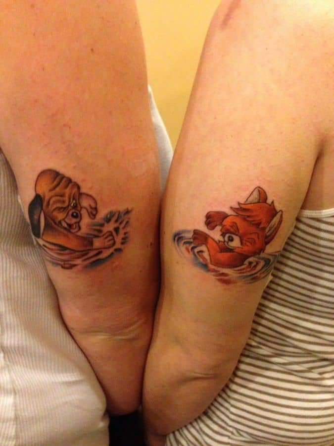 Awesome Armband Boyfriend and Girlfriend Tattoos