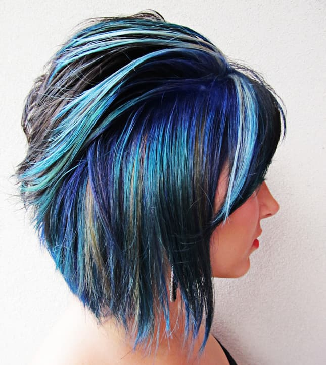 Awesome Blue Stripes Afraid Hairstyles 2017