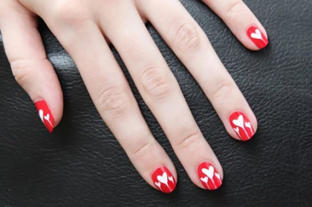 Awesome Dripping Hearts Nail Designs 2018