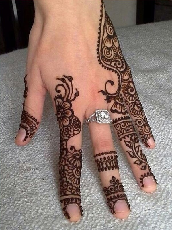 Back Hand Mehndi Designs for Eid ul Fitr 2016