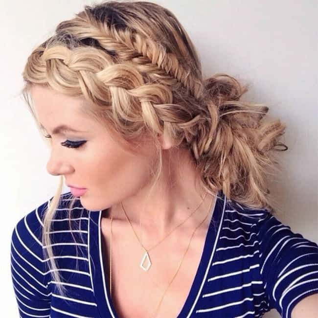 Beautiful Messy Fishtail Updo Hairstyles 2016-17