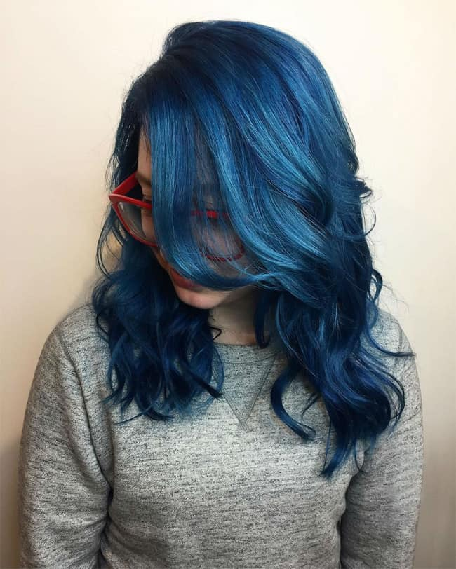 Top 17 Blue Hair Streaks Ideas For Girls Sheideas