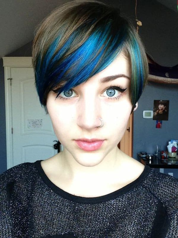 Blue Hair Streaks Ideas