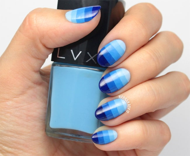 Cool Block Ombre Nail Designs for Party