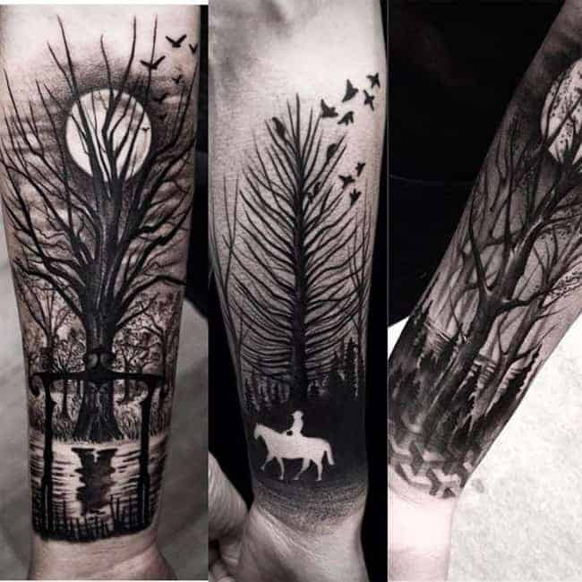 Cool Negative Space Tattoo Art 2016