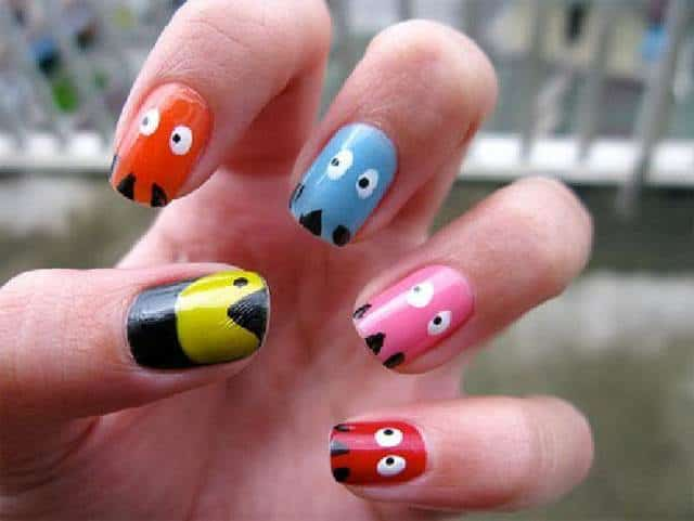 Creative Funky Nail Art Design for Women