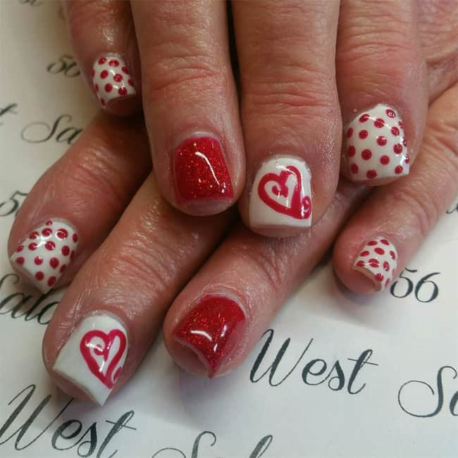 Creative Heart Style Nail Design Trend
