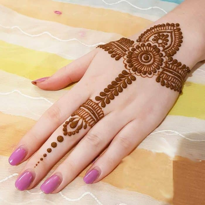 Flower Mehndi Designs For Back Hands : Beautiful rajasthani mehndi designs sheideas