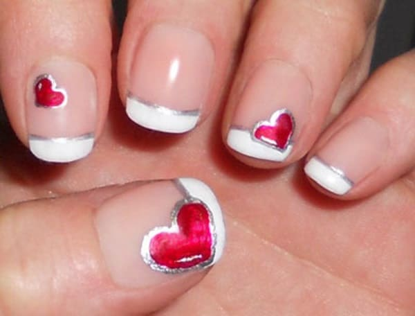 Cute Heart Nail Art Designs for Girls