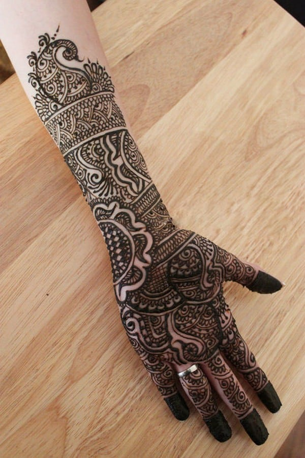 Full Hand Rajasthani Henna Designs for Brides