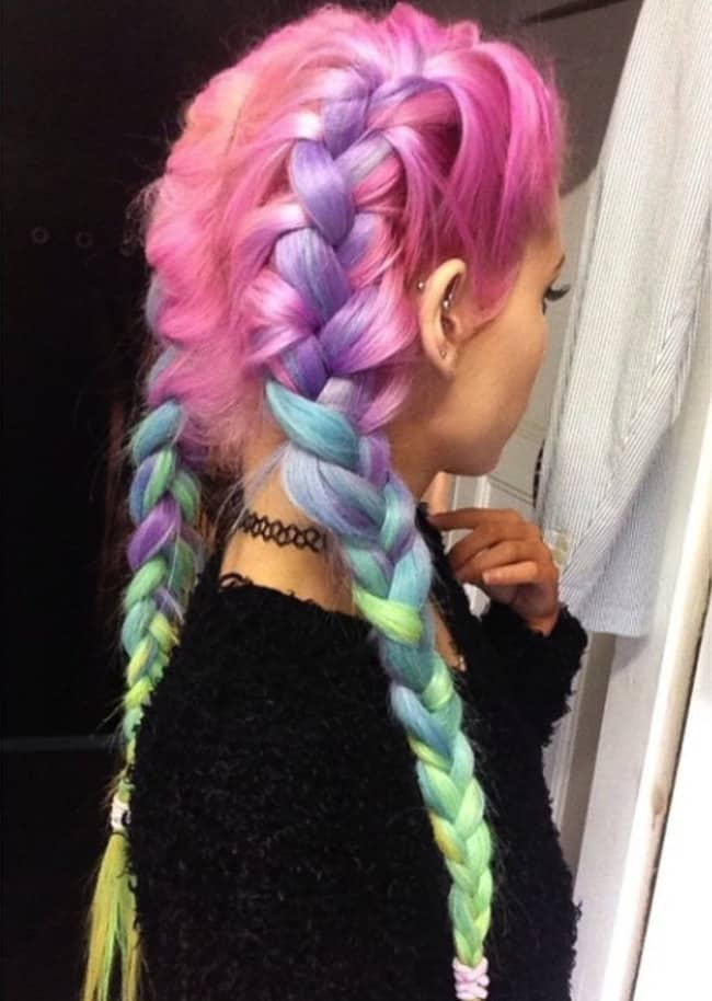 Girls Dyed Candy Pastel Hairstyles for Party
