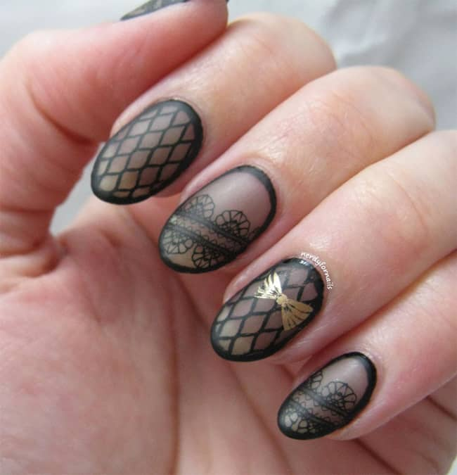 20 astonishing fishnet nail designs images � sheideas
