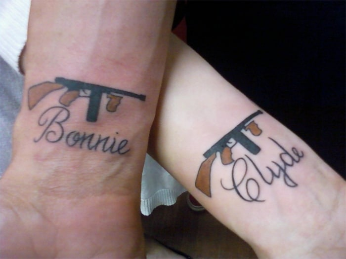 Matching bf and gf tattoos