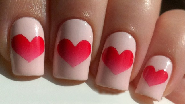 Great Valentine's Day Heart Nail Art Ideas 2018