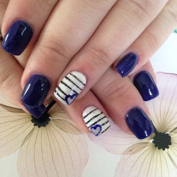 22 cute heart nail designs images for girls sheideas interesting christmas nail designs with hearts prinsesfo Images