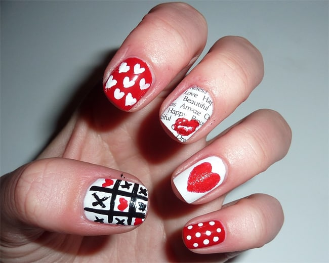 Latest Funky Nail Art for Valentines Day 2018