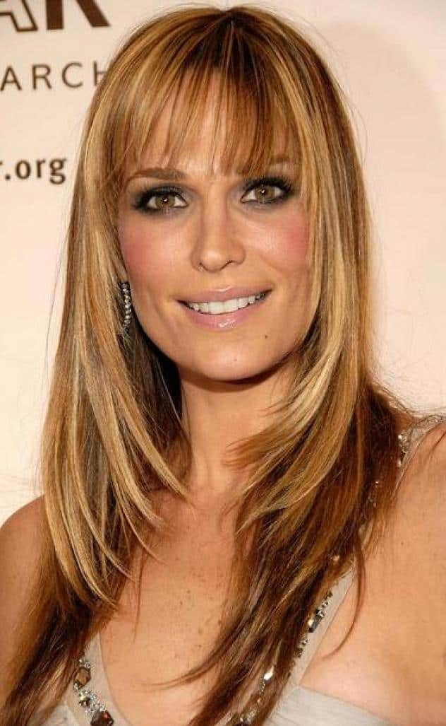 Latest Medium Fringe Straight Hairstyles for Party