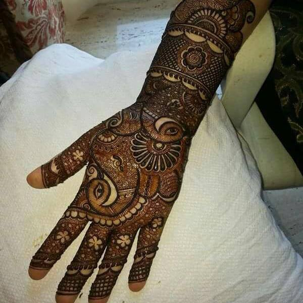 Latest Rajasthani Henna Designs for Eid 2016