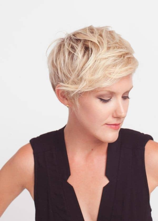 Messy Short Hairstyles With Bangs for Party