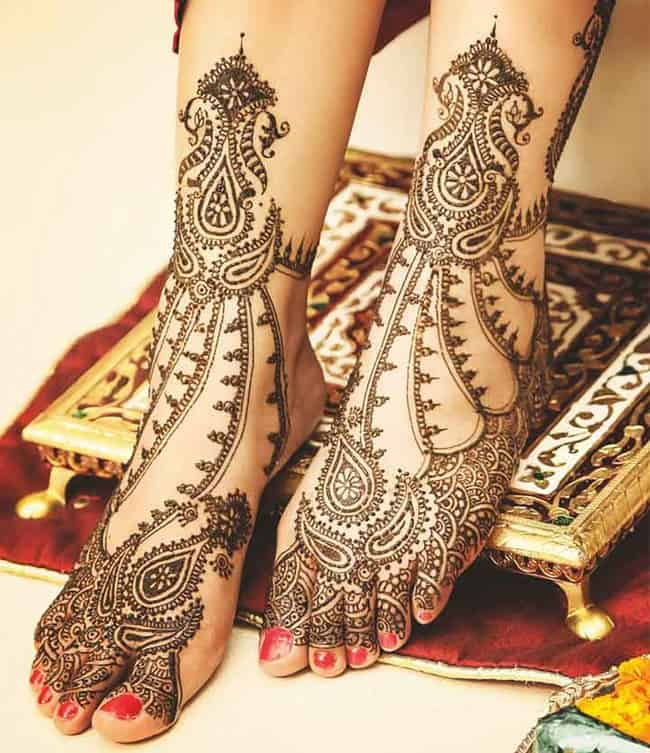 Rajasthani Feet Mehndi Designs for Brides 2016