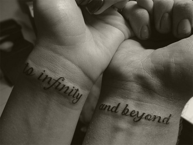 Small Boyfriend and Girlfriend Wrist Tattoo Designs