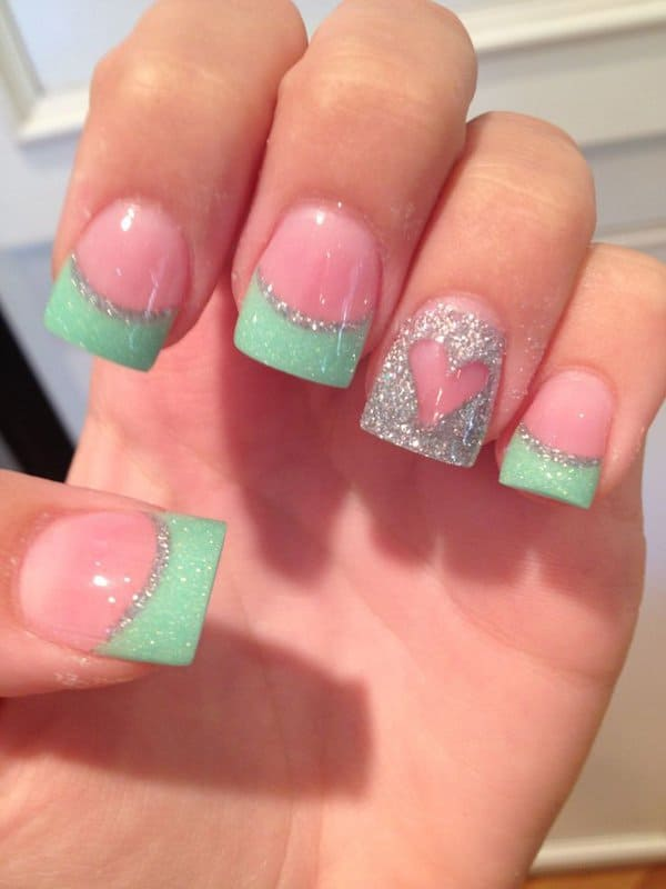Stylish Heart Nail Art Ideas 2016