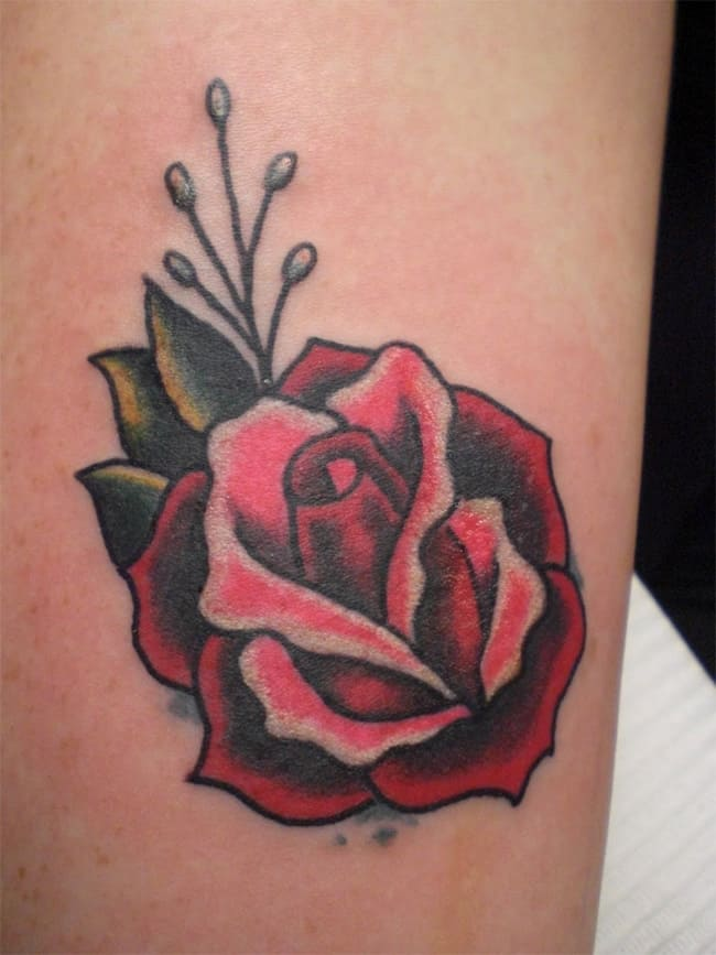 Super Leg Small Rose Tattoo Pictures
