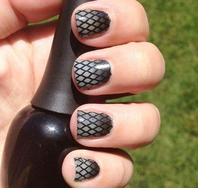 Trendy Fishnet Nails Art Designs for Women