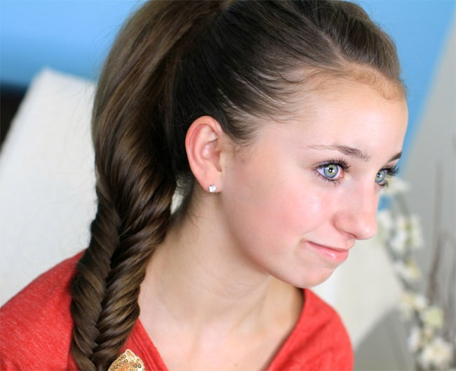 Trendy Fluffy Fishtail Braid Hairstyle for Party 2016