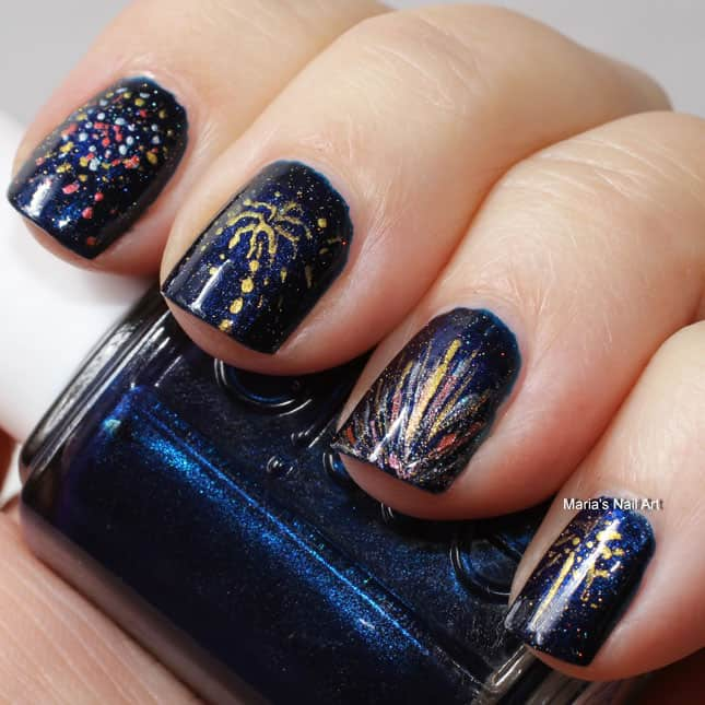 4th of July Fireworks Nails Designs for Women