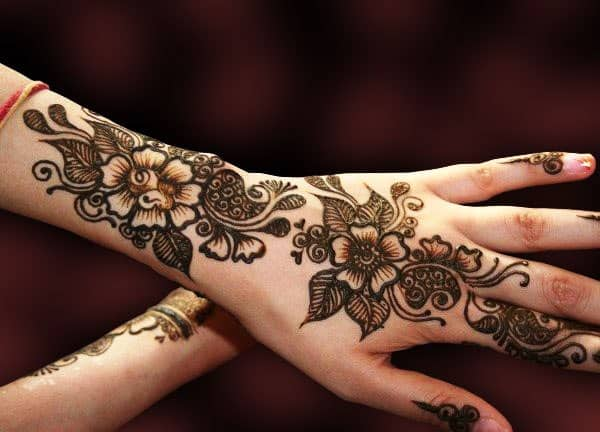 Amazing Bridal Flowers Henna Designs