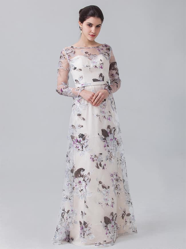 Amazing Floral Dresses with Long Sleeves