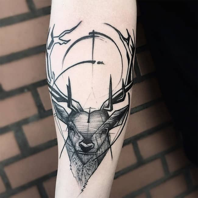 Attractive Arm Sketch Tattoo Art Pictures