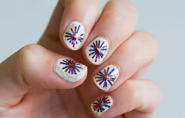 Beautiful Fireworks Nails Ideas for New Year