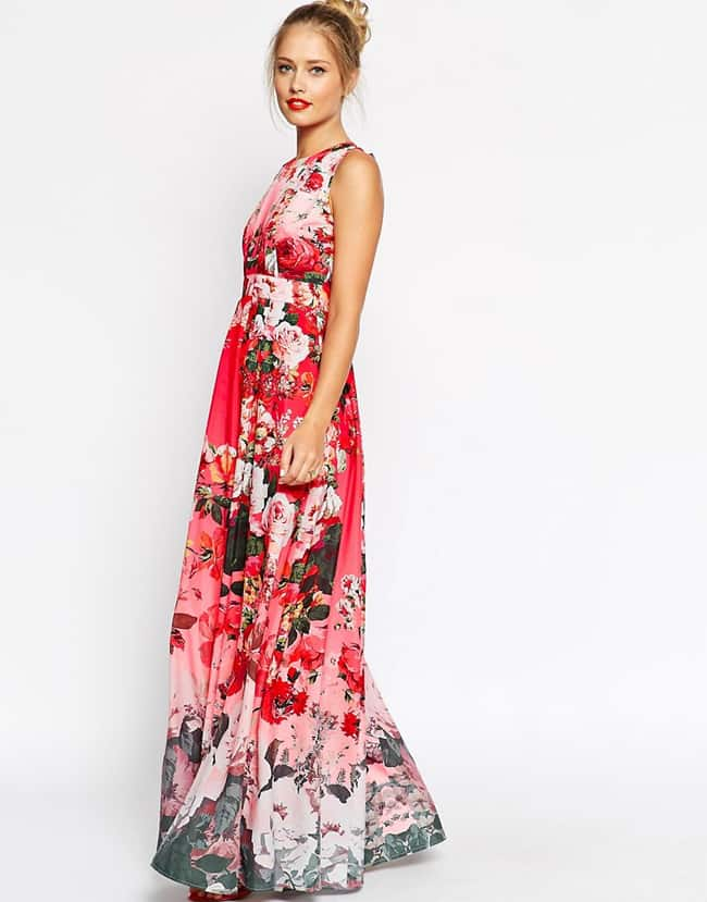 Beautiful Floral Print Maxi Dress for Spring